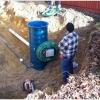 Фекальний насос з ріжучим механізмом для каналізації