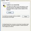 """Ошбіка """"Підключення обмежене або відсутній (Windows XP)"""": як виправити?"""