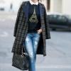 Пальто в клітку - з чим носити? модний одяг