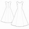 Вечірні сукні в підлогу: викрійки, фото